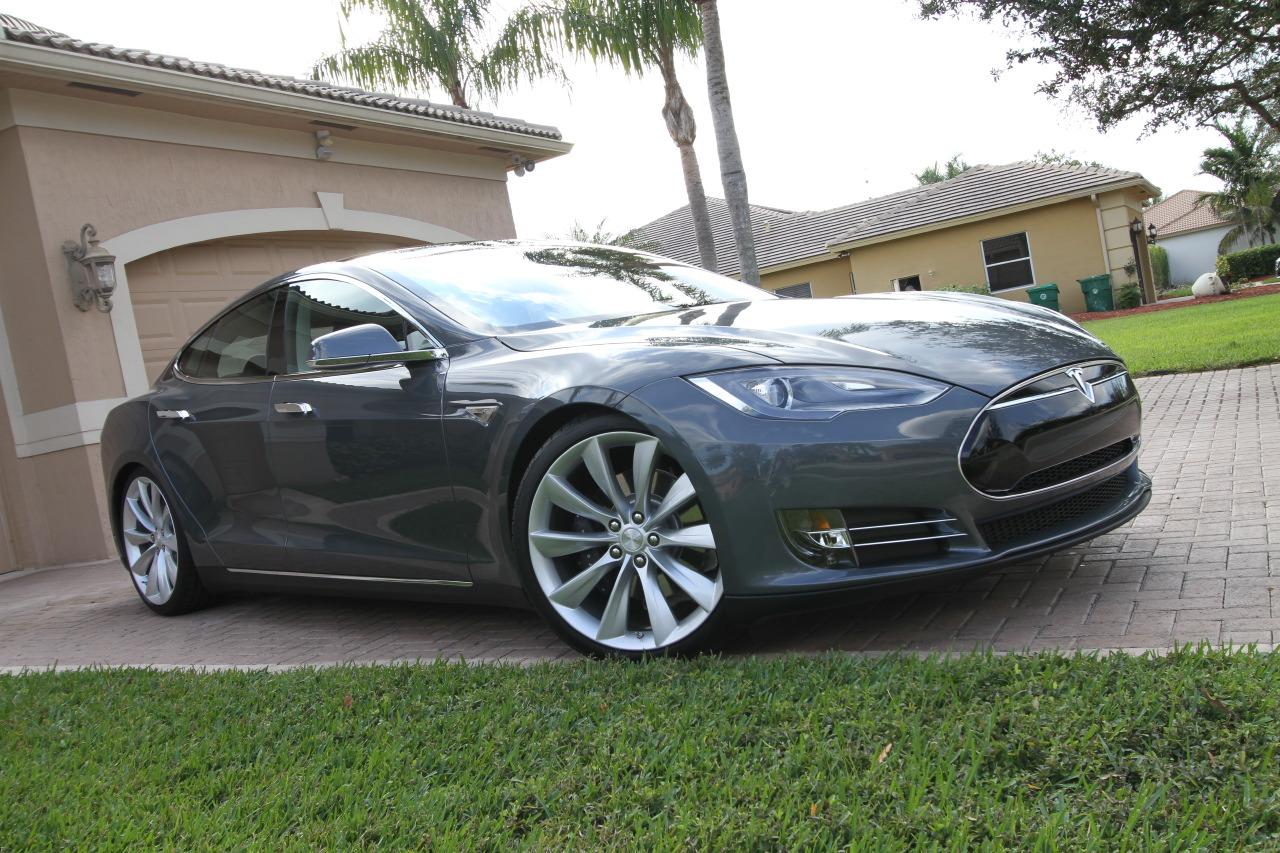 Tesla Model S P85 Grey Html Autos Post